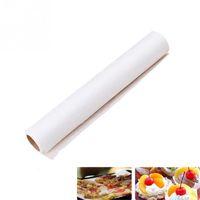Silicone baking parchment paper - New High Quality M Parchment Paper Silicone Baking Mat Pad Roll Wax Non Stick Kitchen White