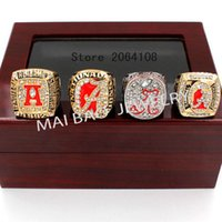 alabama university - 2016 Replica High Quality Packs University of Alabama Crimson Tide Championship Ring set with wooden box