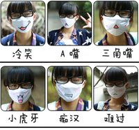 Wholesale New Anti Dust Cute Anime Kaomoji kun Emotiction Mouth muffle Kawaii Anti Dust Winter Cotton Cycling Wearing Face Mask cm