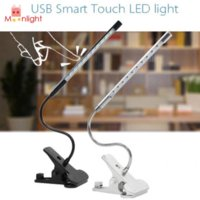 best clip art - BEST W DC V Touch Dimmable Flexible USB Reading Adjustable LED Solid Clip Desk Lamp Colors Black Silver