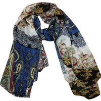 australian fashion designers - 2016 New designer australian paisley silk women scarf evening wraps soft three colors available