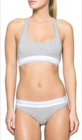 Wholesale DHL Branded womens underwear suit cotton vest sports bra brief set woman s underwear Pants with packagings