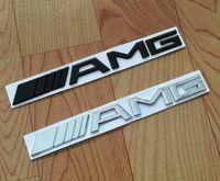 amg sticker - Metal Black Silver Chrome M AMG Decal Sticker Logo Emblem New Hot Good quality Car Badges