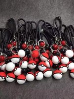 Wholesale Luxury Pikachu Phone Pendant Charms Lanyard Straps Fashion Cell Phone Charms Bag Mobile Chain Key Ring