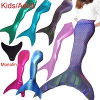 ariel little mermaid costume adult - Princess Ariel Adult Kid Mermaid Tail Costume with Monofin Little Mermaid Tails Swimmable Adult for Swimming Bathing Cosplay Color