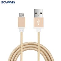 Wholesale 1 M Nylon Braid Aluminum M Android Micro USB Fast Charging Cable Cabel Data Sync for Samsung Galaxy Note7 S7 fast charge cable
