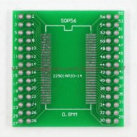 Cheap 5pcs adapter board TSOPII  TSSOP56  SOP56 (smd to dip) 0.635  0.8mm pitch SDRAM Other Electronic Components