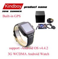 Android 3G montre Smart Watch Phone Bluetooth Smartwatch 4G 512MB GSM SIM Card W08 Sport Montres Caméra Wifi GPS CSAJ pour iOS de kindboy