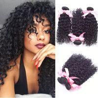 Cheap Kinky Curly Malaysian Hair Weaves kinky curly virgin hair Bundles Natural Black Malaysian kinky Curly Human Hair Extension Free Shipping