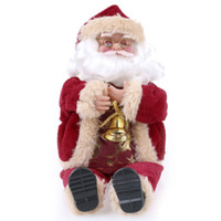 Wholesale Santa Claus Toy cm inch Christmas Gift Doll Flannel Toys Xmas Decoration Santa Claus Toy Doll cm inch Christmas