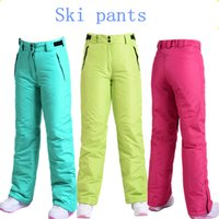 Wholesale The new ski pants female male single and double board Couples in winter ski pants wind proof heat preservation cotton pant
