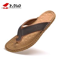 best mens flip flops - Best Cowhide Flip Flops Mens Genuine Leather Sandals Beach Slippers Men Summer Shoes Brown white Sandals Men Zapatos Hombre