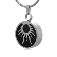 ash sun - Tribal Sun Pendant Necklace Urn Cremation Ashes Stainless Steel Jewelry with Gift Bag and Funnel