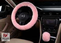 australian material - owest hot sale New Arrival colorful Wool Plush Steering Wheel Cover Woolen Car Accessory Australian Wool Material
