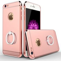 Wholesale 2016 New Functions Case For iPhone s SE s Plus Three In One Back Cover for iPhone With Ring Stand Holder For Car Support