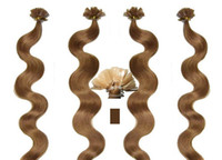 Cheap AAAAA Grade 0.7g*200s Body Wavy 10''-20'' 22'' 24'' 26'' 28'' Flat Tip 100% Real Indian Remy Human Hair Extensions