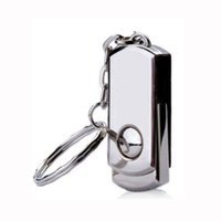 Wholesale No Logo Piece Metal Rotatable USB Drives Brand New USB Memory Stick Whirl U Disk USB2