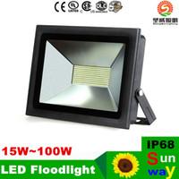 al por mayor la luz de inundación 15w-Luz de inundación al aire libre IP68 LED Proyectores de iluminación de paisaje 15W 30W 60W 100W jardín impermeable llevó luces 85-265V accesorios 12v
