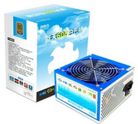 Wholesale PCCOOLER W VAC input ATX PC power supply unit PSU BLUE SKY WHITE CLOUD LANTIAN BAIYUNBAN