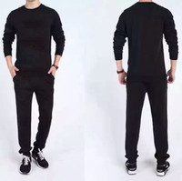 Cheap Casual Tracksuit For Lovers Men and Women Tracksuits Sport Suit no Hoodie Sweatshirt+Pant Jogging Sportswear Set