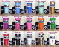 Wholesale 15 color YETI Rambler Tumbler Cups oz Clear Lids Coolers Cup Yeti Sports Mugs Large Capacity Stainless Steel Mug