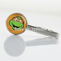 Wholesale Charms Jewelry Fashion Man s Classic tie clip Teenage Mutant Ninja Turtles Novelty Interesting Tie Clips T