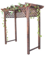 Wholesale Outdoor Furniture High Quality Solid Wood Flower Pergola For Garden