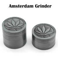 Wholesale High Quality Amsterdam Grinders mm Piece Piece Grinder Zinc Alloy Grinder Herb Spice Crusher Magnetip Top Grinder