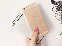 Wholesale Bling Bling Shining Glitter Soft TPU Silicone Phone Cases Cover For iphone s Plus S S With Logo New Hot Cases