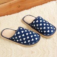 Grossiste-Femmes Hommes Pantoufles Plush Chaussures Indoor Chaussons Mignon Couple Pantoufles Maison Chaude