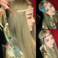 Wholesale Fashion Festival Feather Bohemia Headband Hippie Headdress Hair Accessories Boho new