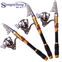 Wholesale Sougayilang High Quality m Carbon Telescopic Fishing Rod Series BB Spinning Fishing Reel Fishing Tackle Rod Combo