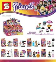 band figures - SY286 Friend Series Super Star Band Stage Girl Figure Building Block Minifigue Toys Kid Gift