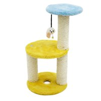 Wholesale Cat Climbing Frame Round Shape Claws Grinding Three Layers Sisal Mice Catch Climbing Training Jumping Tools Toys