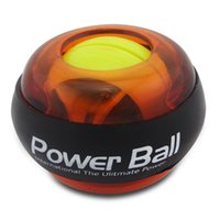 Wholesale LED Lights Gyroscope Powerball Hand Fore Arm Wrist Strength Excercise Balls Rotate Power Strengthener Force Ball Spinner