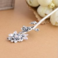 ancient china hair - Sterling silver hair Style restoring ancient ways Female delicate hair Blooming flowers Elegant temperament China s wind Classic bride