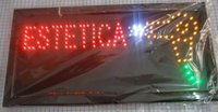 Wholesale Led hot sale X19 inch indoor Ultra Bright running Estetica barber shop Neon light sign board