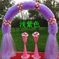 Wholesale The new wedding silk flower door arches marriage finished organza opening anniversary