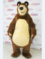 adult grizzly bear costume - Adult Christmas High Quality Masha Bear Ursa Grizzly Mascot Costume Cartoon Character