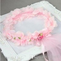Wholesale The explosion of a Korean version of the new childrens jewelry lovely princess dance wreath headpiece of lace factory