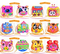 Wholesale EVA DIY Toy Bags Series Cute Flower Cartoon Style Bag with lanyard Handmade Crafts Cartoon Backpacks Best Gift for Children mix order