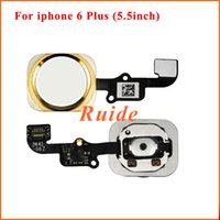 Wholesale For iphone6 plus Home button with flex cable For iphone Plus Original replacement parts