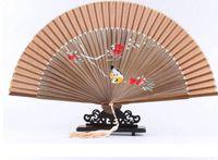 chinese dance fans - chinese bamboo silk dance fan Chinese folding bamboo hand fans Bamboo fan Spanish fan hand fan