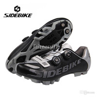 Wholesale SIDEBIKE Professional MTB Self locking Shoes Bicycle Cycling Shoes Breathable Mountains BIke S2 Snap Knob Athletic Shoes