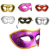 Wholesale 2016 Men Women Costume Prom Mask Venetian Mardi Gras Party Dance Masquerade Ball Halloween Mask Fancy Dress Costume