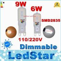 Dimmable G9 Lampe LED 6W 9W Ampoule Led 2835 Spotlight Pour Crystal Chandelier Remplacer 50W 100W Halogen Light AC 110V / 220V