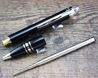best ballpoint refill - Send refill Business Supplies Classical BallPoint Pen High Quality Best Design Silver Black screw style