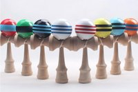 Wholesale 18 cm cm PU Kendama Ball Japanese Traditional Wood Game Toy Education Gifts