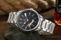 alloy mechanical - Male Fashionable Business Watch Stainless Steel Belt Mechanical Automatic Watch Waterproof Watch Wristwatch