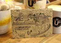 Wholesale Exquisite Chinese Ancient Weathering Vintage Wooden Envelope Manila Envelope Kraft Paper Envelopes